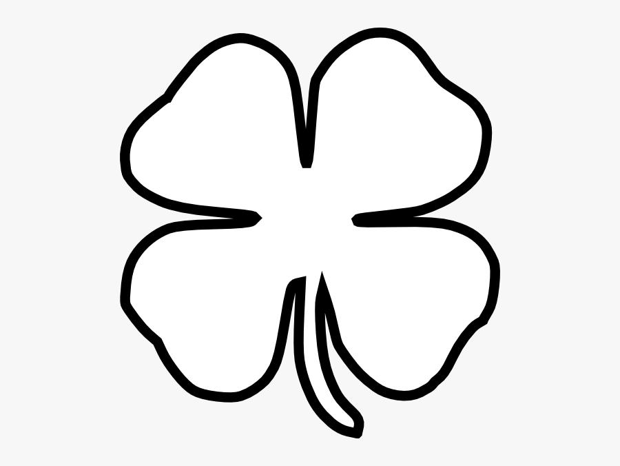 Four Leaf Clover Black - Drawing Four Leaf Clover, Transparent Clipart