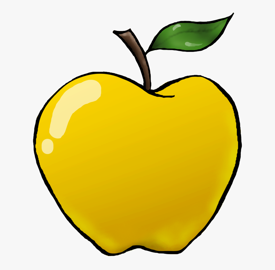 Apple Preschool Clipart - Yellow Apple For Preschool, Transparent Clipart