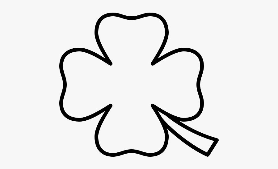 """  Class=""lazyload Lazyload Mirage Cloudzoom Featured - Four Leaf Clover Outline Black, Transparent Clipart"