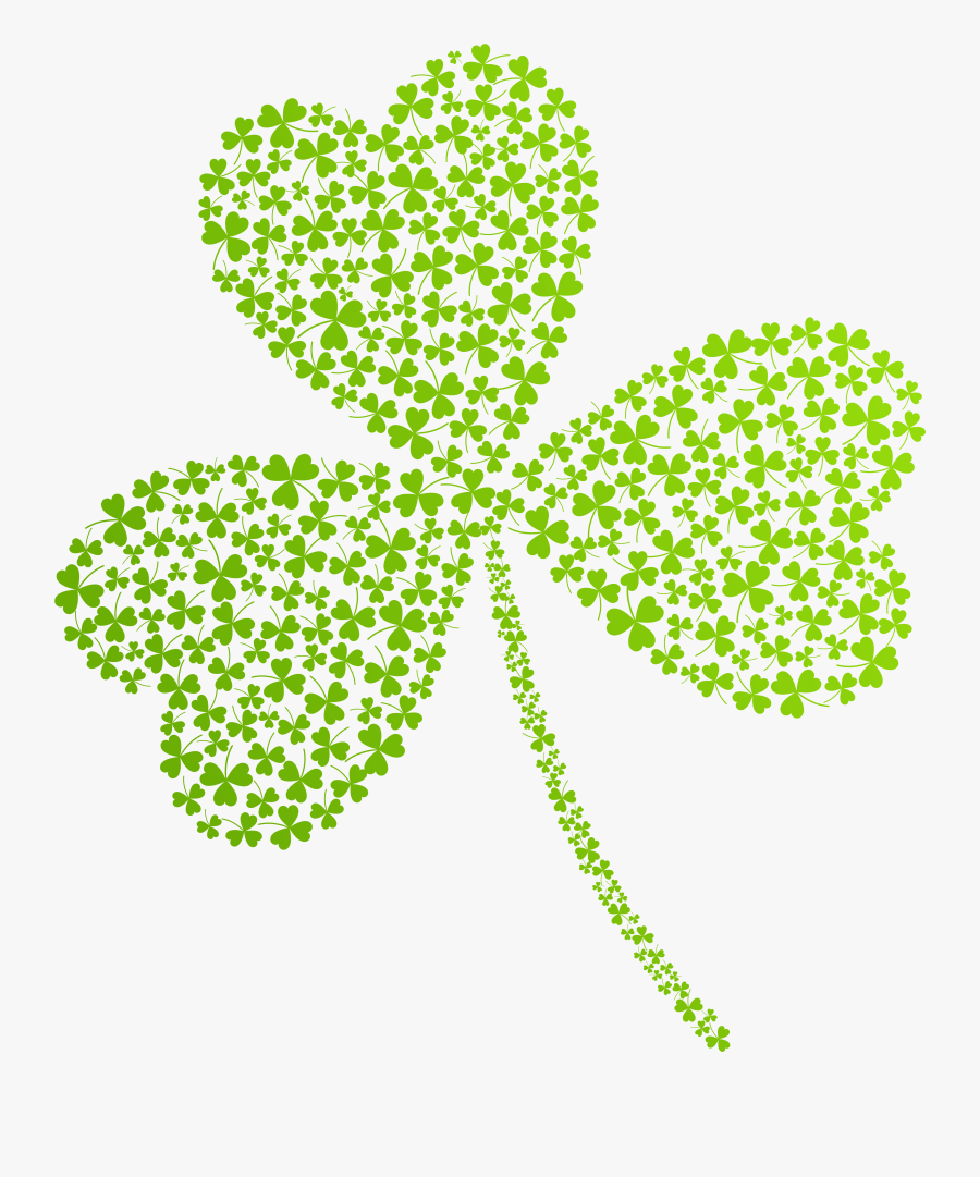 Shamrock With Face Clipart No Background - Transparent St Patricks Day, Transparent Clipart
