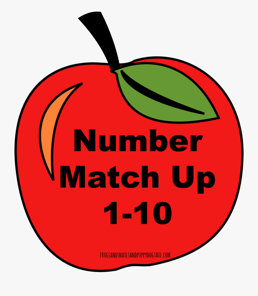 Apple Preschool Clipart - Red Apples With Numbers 1 10, Transparent Clipart
