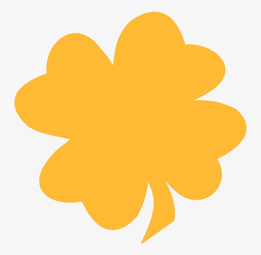 Clover Clipart Leaf Shape Leaf - Orange Four Leaf Clover, Transparent Clipart