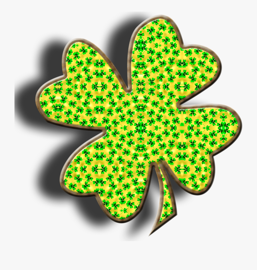 Lucky Clover Four Leaf Clover Isolated Free Picture - Shamrock, Transparent Clipart