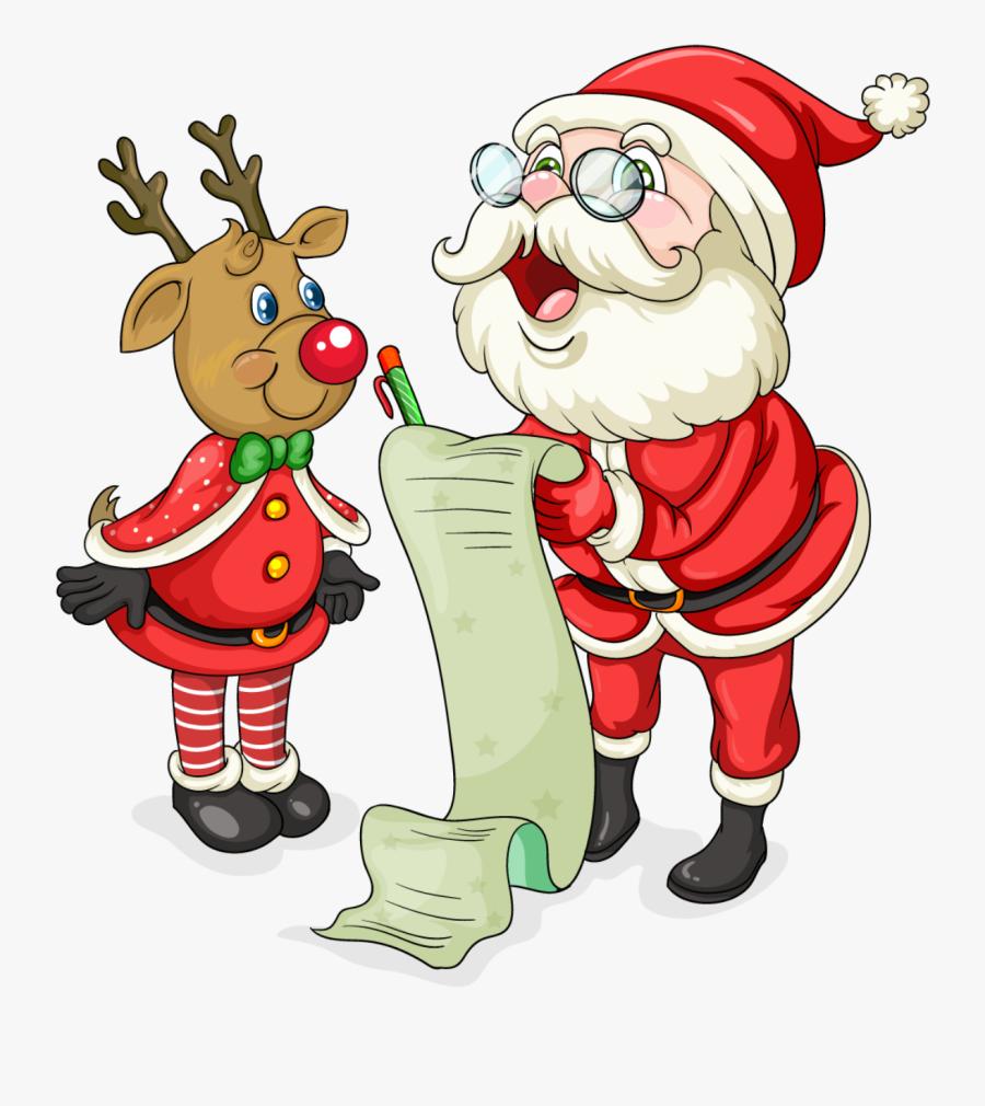 Cute Santa Christmas Clipart Santa, Christmas - Father Christmas Transparent Background, Transparent Clipart