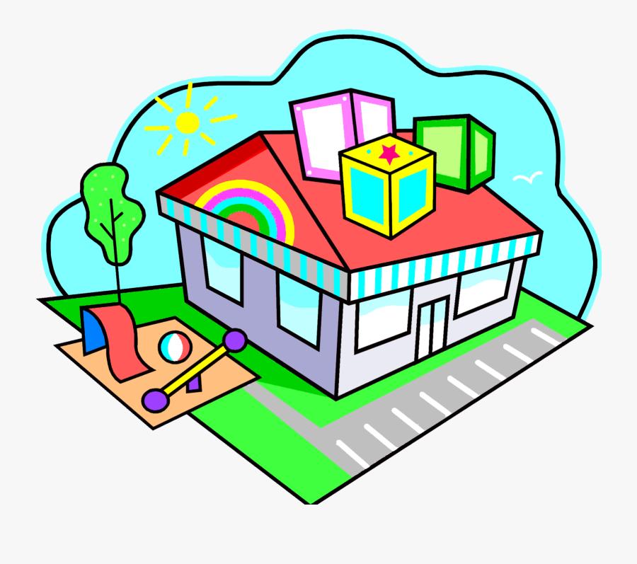 Daycare House Clipart - Preschool Clip Art, Transparent Clipart