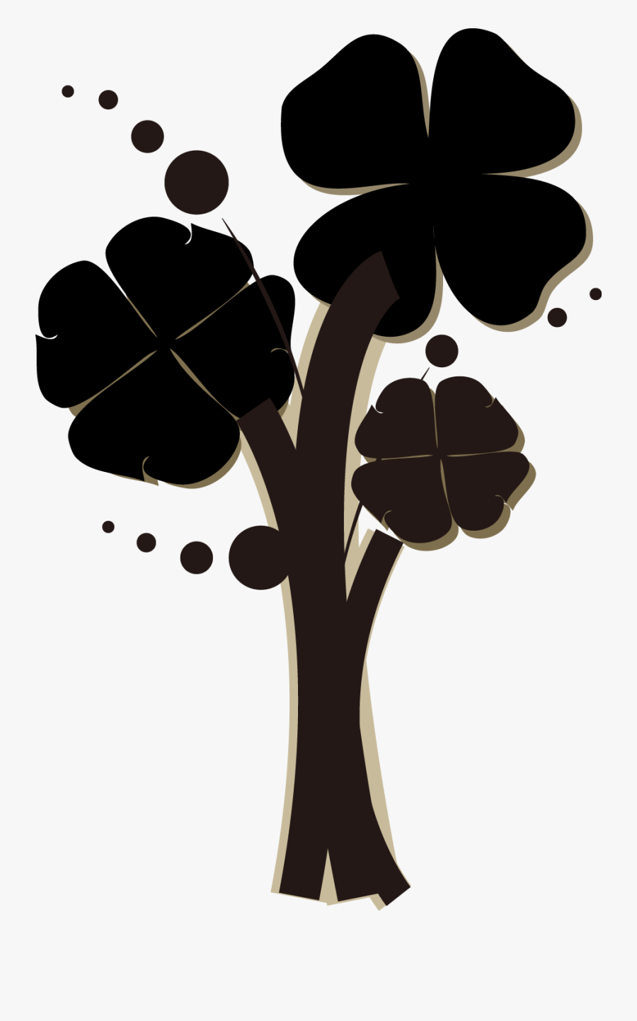 Clover Painted Cartoon Png Download - Four-leaf Clover, Transparent Clipart
