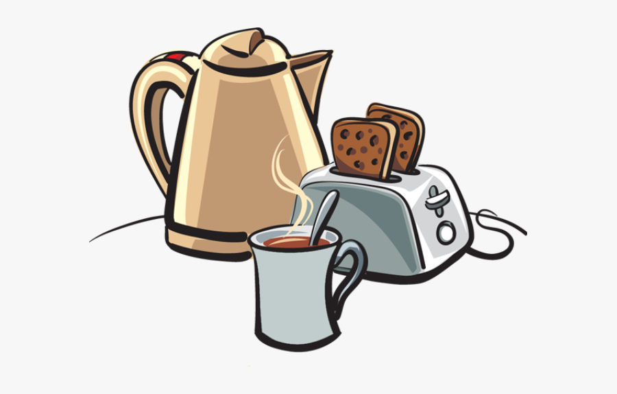 Transparent Eat Breakfast Clipart - Toast And Coffee Cartoon, Transparent Clipart