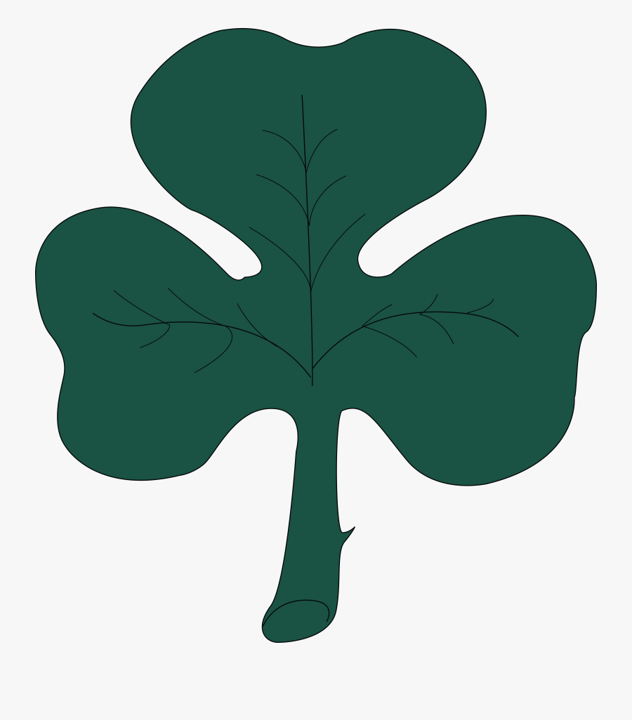 """Free Clipart Of A St Paddy""""s Day 4 Leaf Clover Shamrock, Transparent Clipart"""