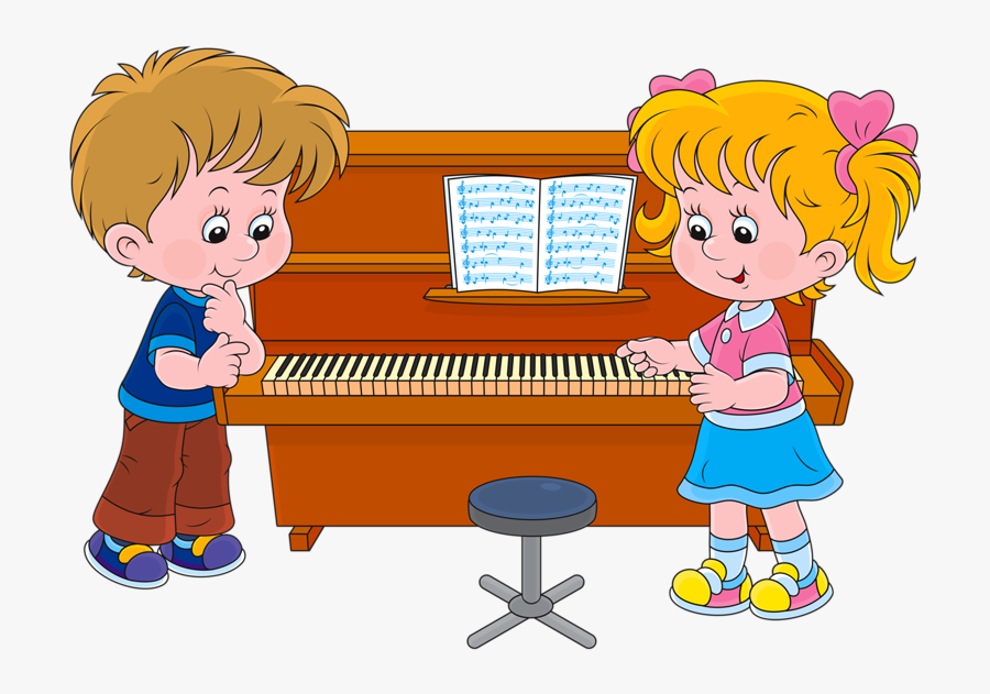26 - Play Piano Cartoon, Transparent Clipart