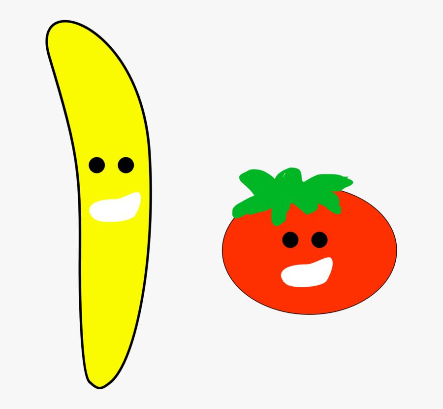 Banana And Tomato - Banana And Tomato Clipart, Transparent Clipart
