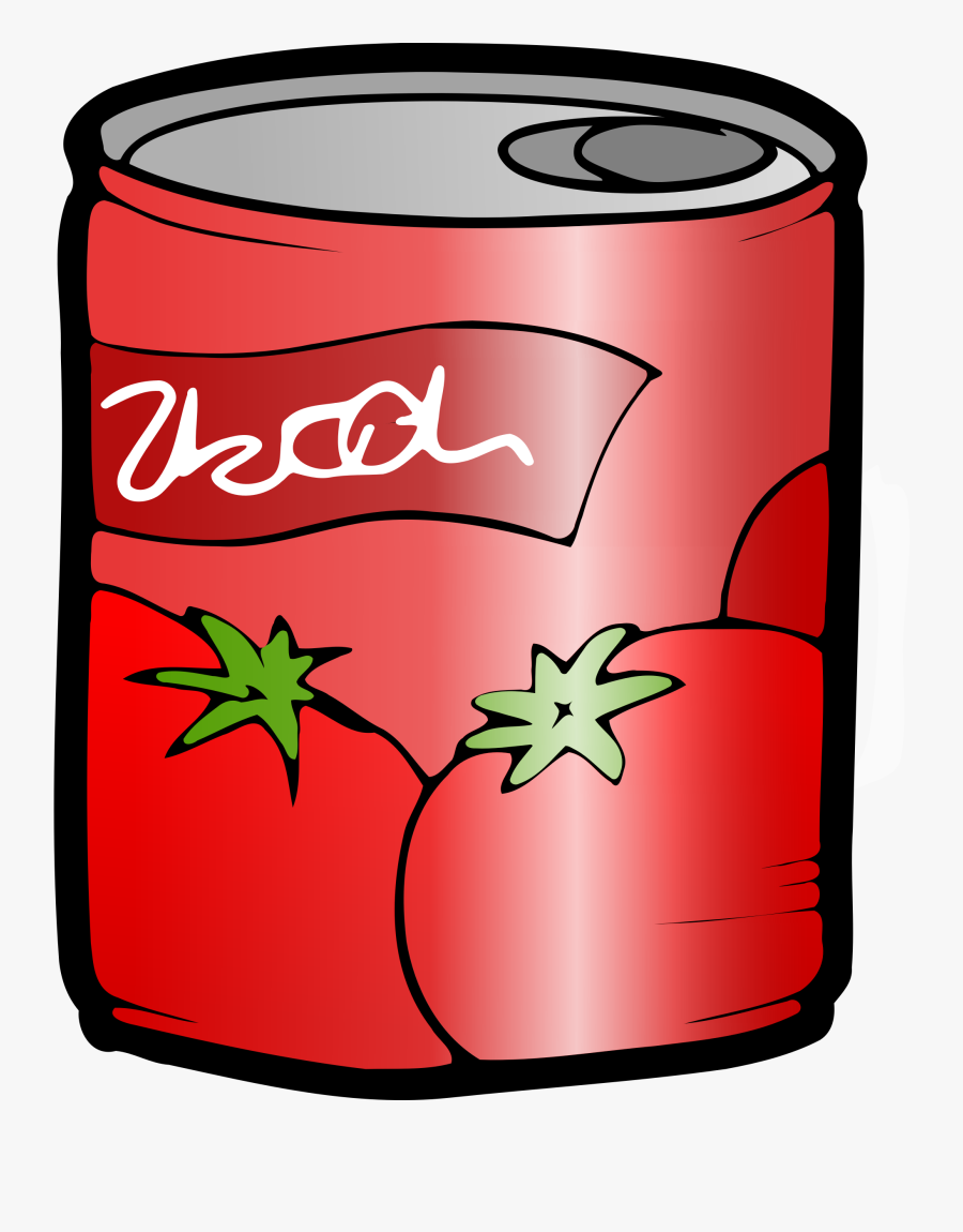 Clipart Can Of Tomato Juice - Can Food Clip Art, Transparent Clipart
