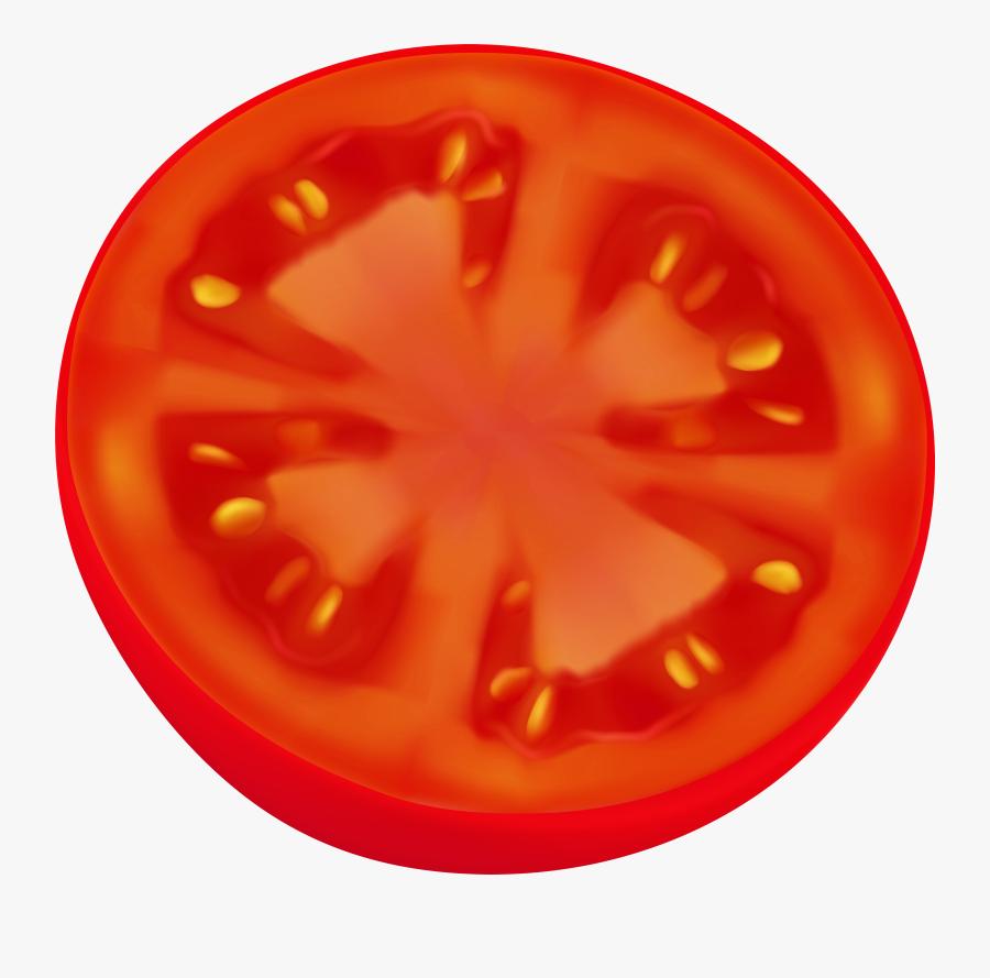 Circle Sliced Tomato Png Clip Art Image - Clip Art Tomato Slice, Transparent Clipart