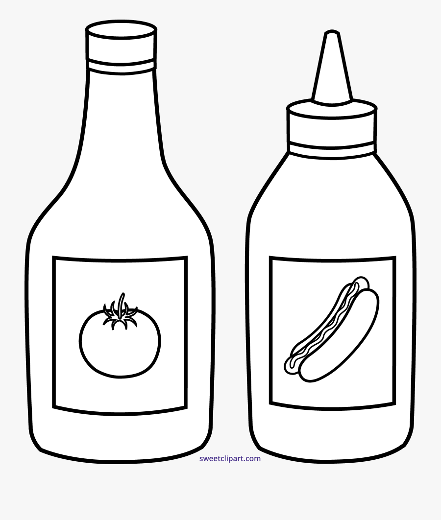 Transparent Ketchup Png - Tomato Sauce Bottle Drawing, Transparent Clipart