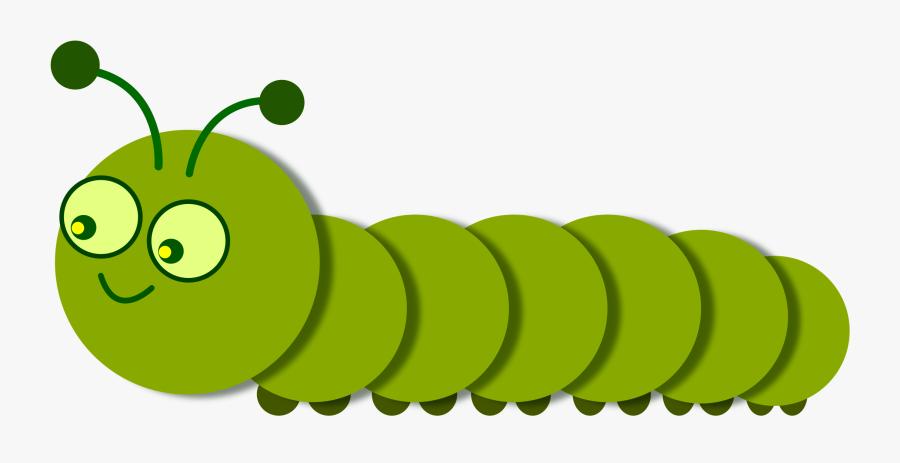 Smiling Caterpillar Legged, Linear - Caterpillar Clipart Png, Transparent Clipart