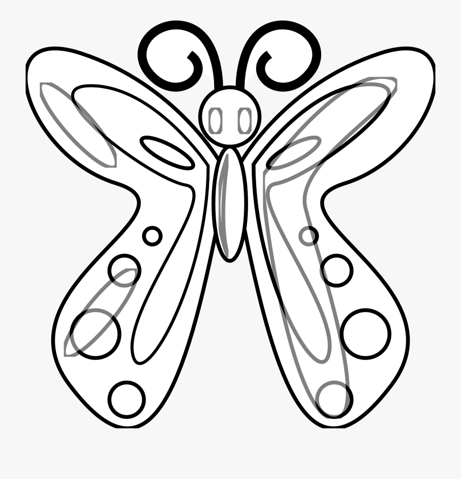 Caterpillar Clipart Black And White Free - Clip Art Butterfly Black White, Transparent Clipart
