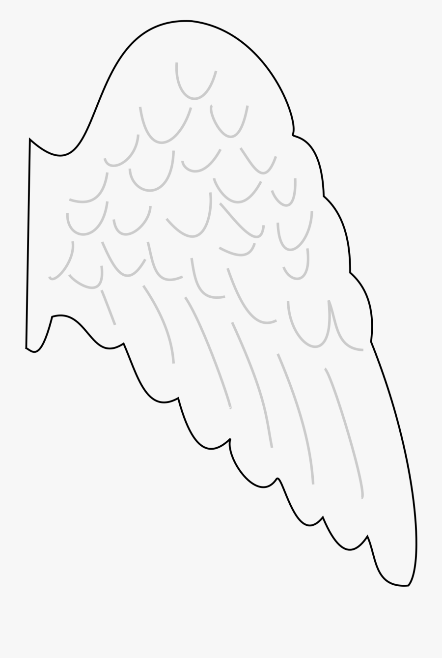 Angel Wings Clipart Clipartix - Angel Wing Template Printable Free, Transparent Clipart