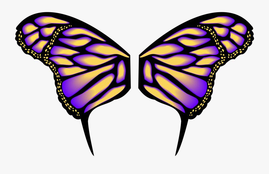 Transparent Butterflies Clipart - Clip Art Butterfly Wings, Transparent Clipart