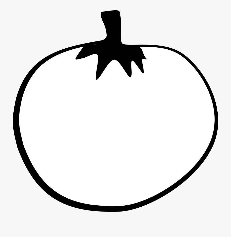 Tomato Line Art - Tomato Vector White Png, Transparent Clipart