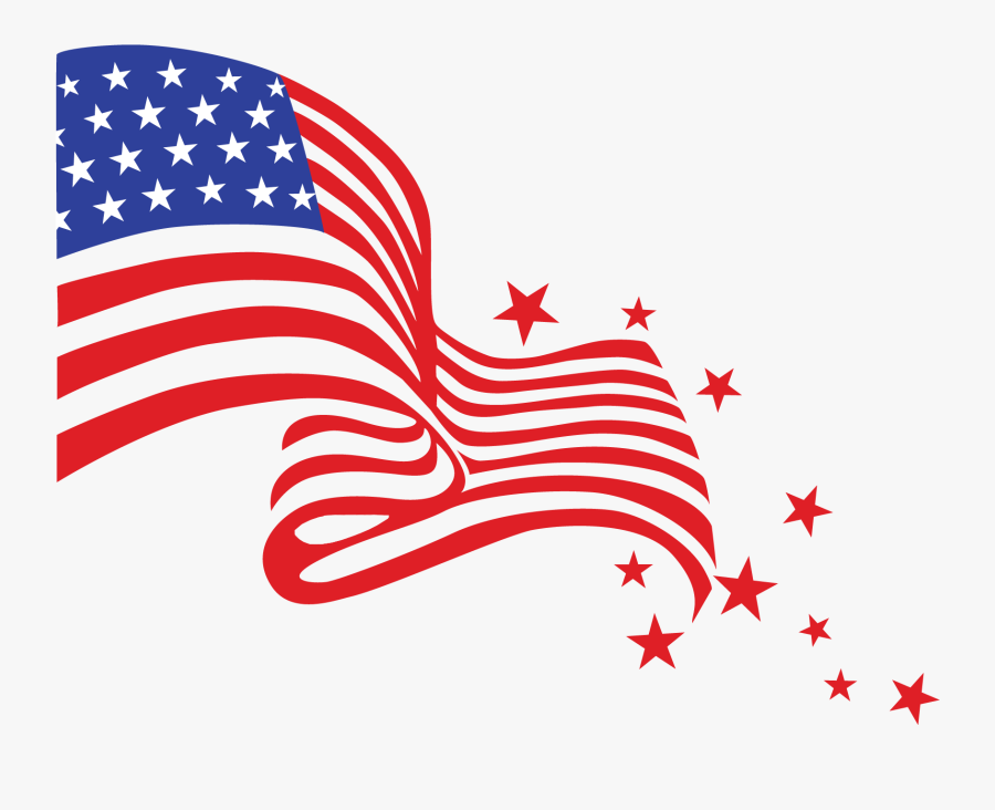 4th Of July Clipart 2 Png - American Flag Clipart Transparent, Transparent Clipart