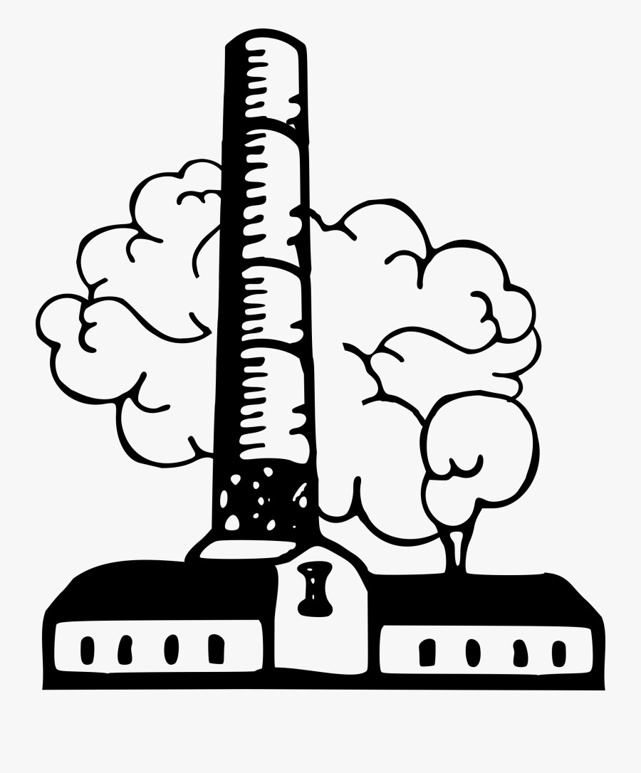 Cliparts For Free Download Smoke Clipart Factory And - Industry Clipart Black And White Png, Transparent Clipart