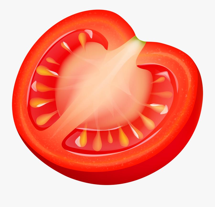 Half Tomatto Png Clipart - Tomato Slice Clip Art, Transparent Clipart