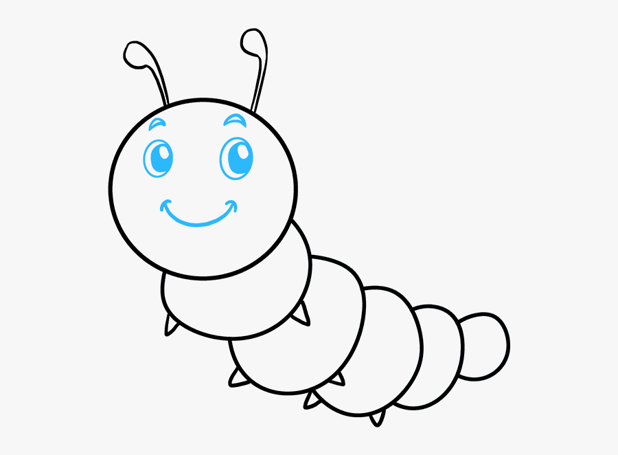 How To Draw A Cute Caterpillar Cartoon Caterpillar Drawing Easy