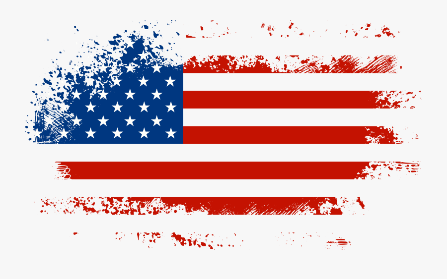July Clipart Flag America - Transparent Background American Flag Png, Transparent Clipart