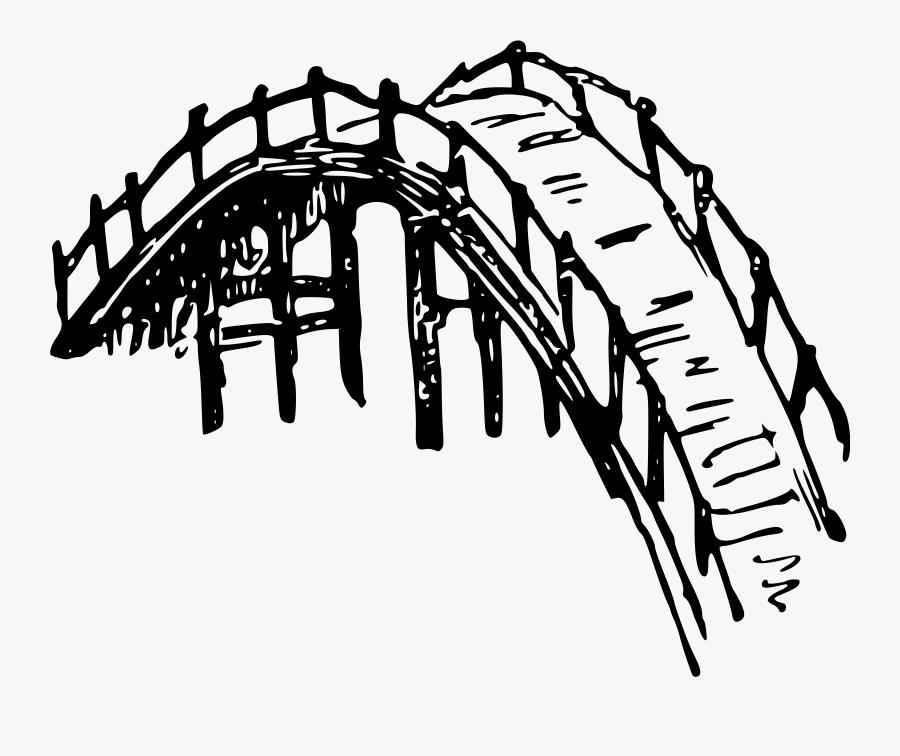 Clipart Wooden Bridge - Bamboo Bridge Simple Drawing, Transparent Clipart