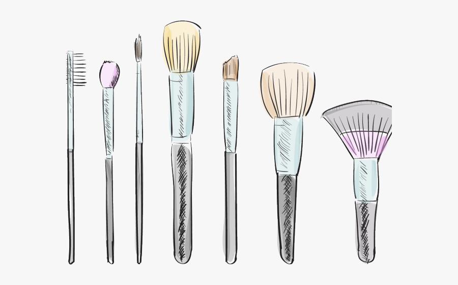 Transparent Lipstick Clipart - Makeup Brush Drawing, Transparent Clipart