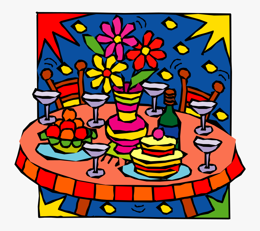 Christmas Party Food Clipart, Transparent Clipart