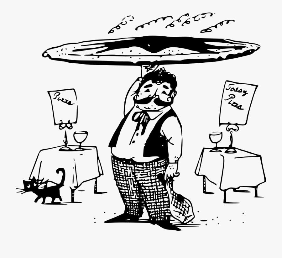 Pizza Waiter, Transparent Clipart