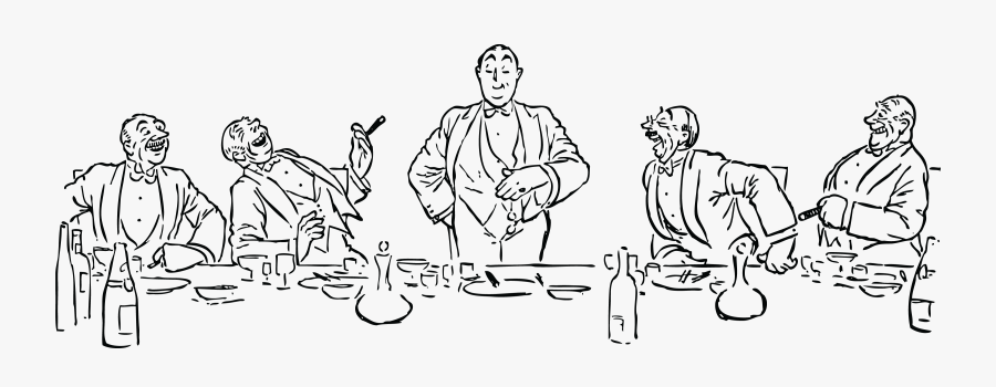 Art,people,human - Dinner Party Clipart, Transparent Clipart