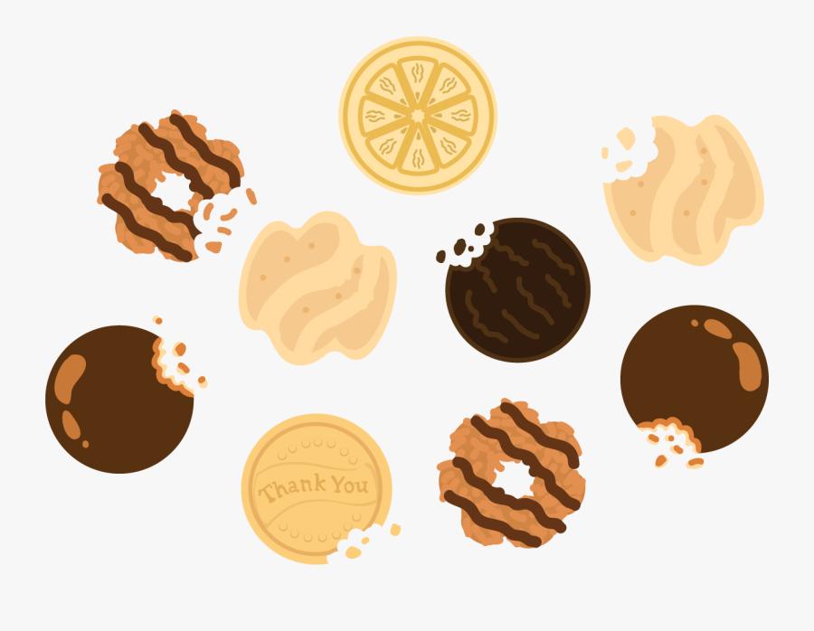 Mint Cookie Cliparts - Thin Mints Cookies Clip Art, Transparent Clipart