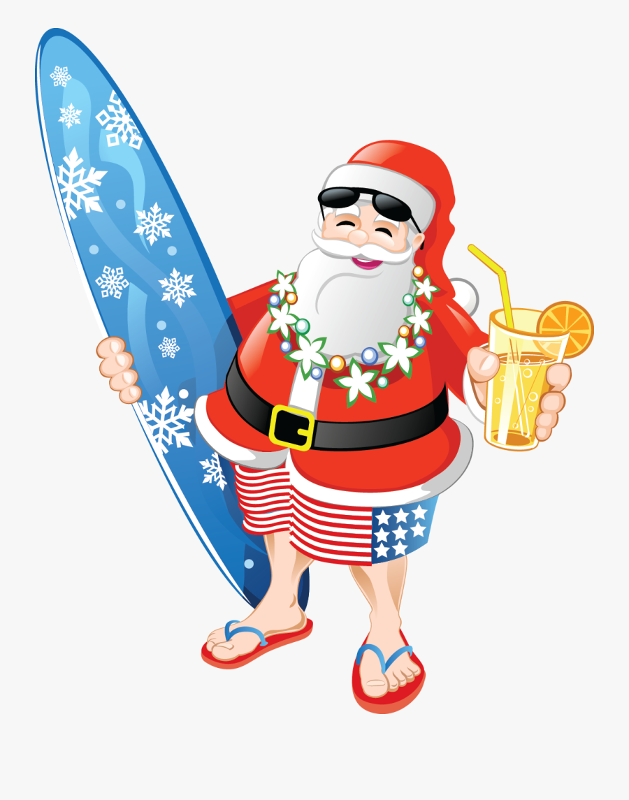 Clip Art Holiday Party Promotion Going - Christmas In July Santa, Transparent Clipart