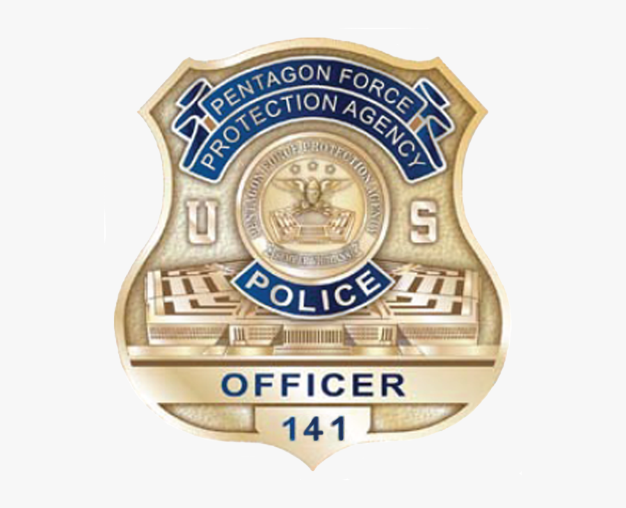Badge Of The United States Pentagon Police - Us Police Badge Png, Transparent Clipart