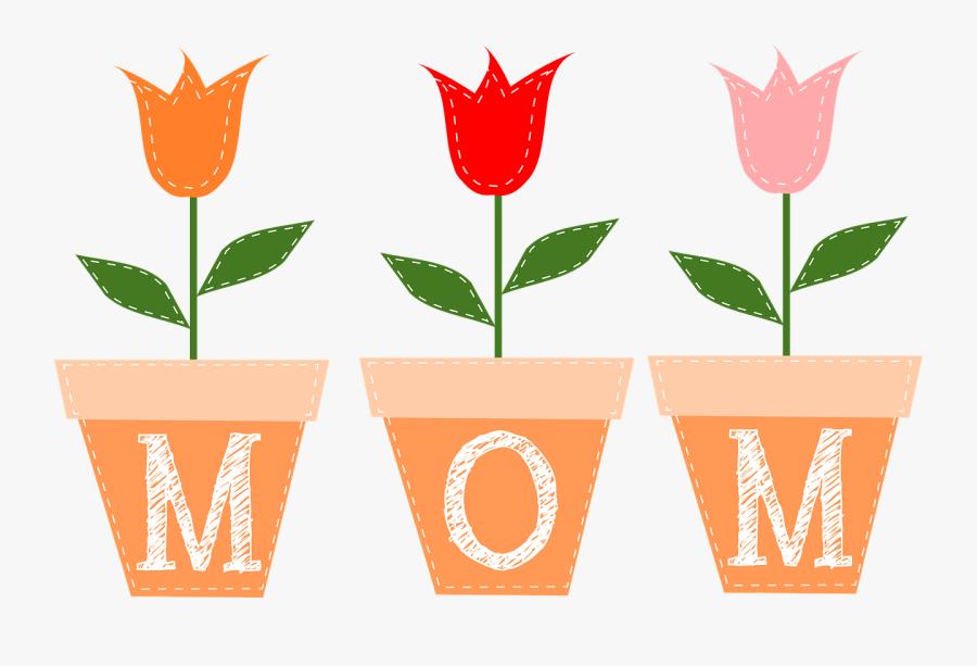 Clip Art Mother S Clip Art - Flower Mothers Day Clipart, Transparent Clipart