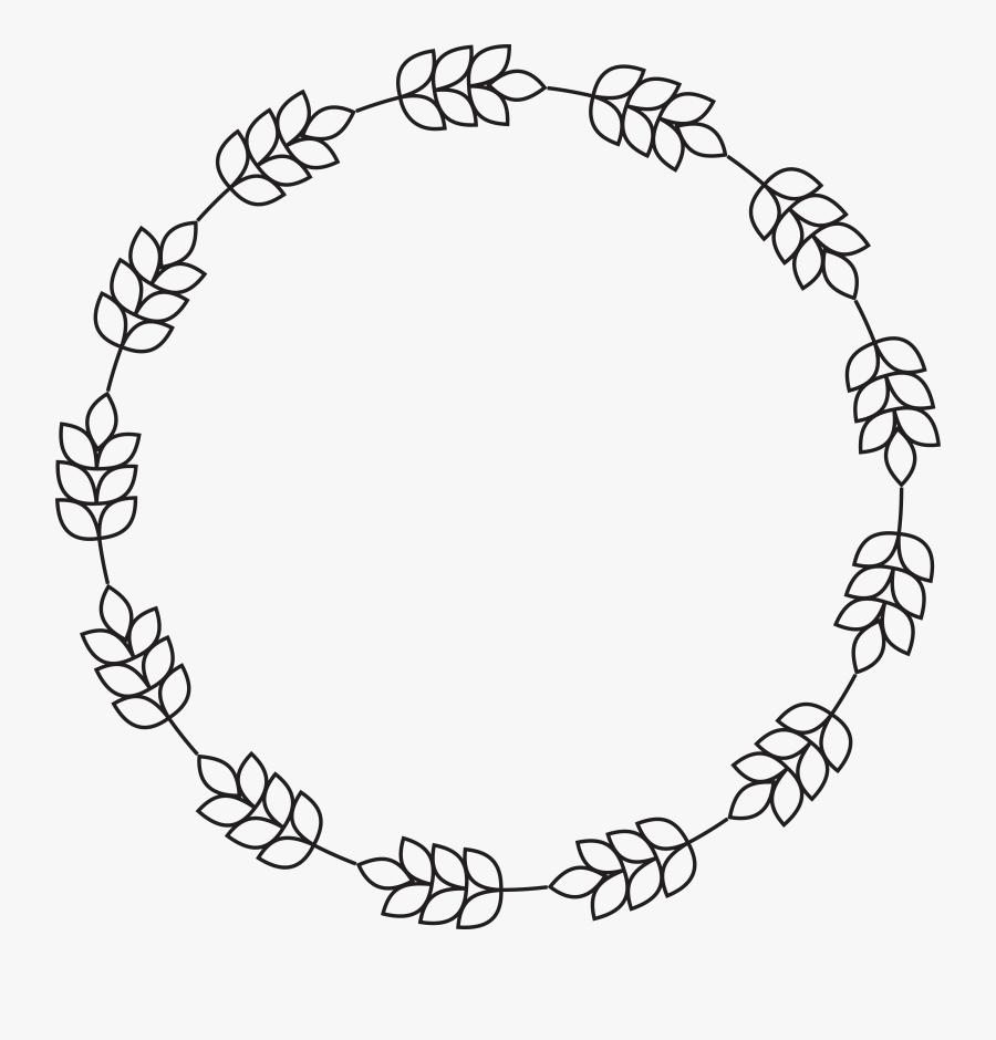 Free Clipart Of A Round Border Of Barley - Circle Border No Background, Transparent Clipart