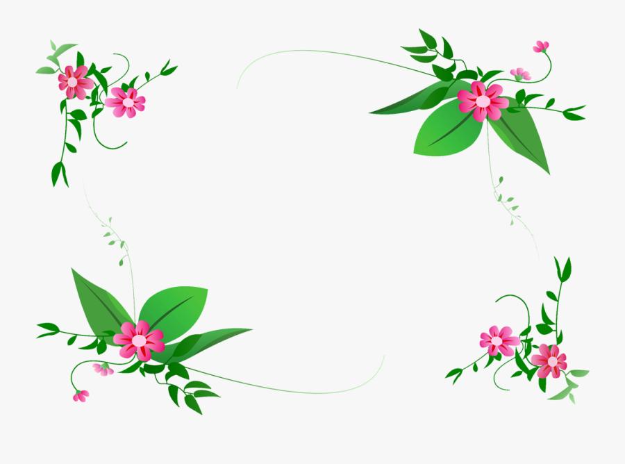 96 Pink Flowers Clip Art Border Free Images Clipart - Flower Vector Border Png, Transparent Clipart