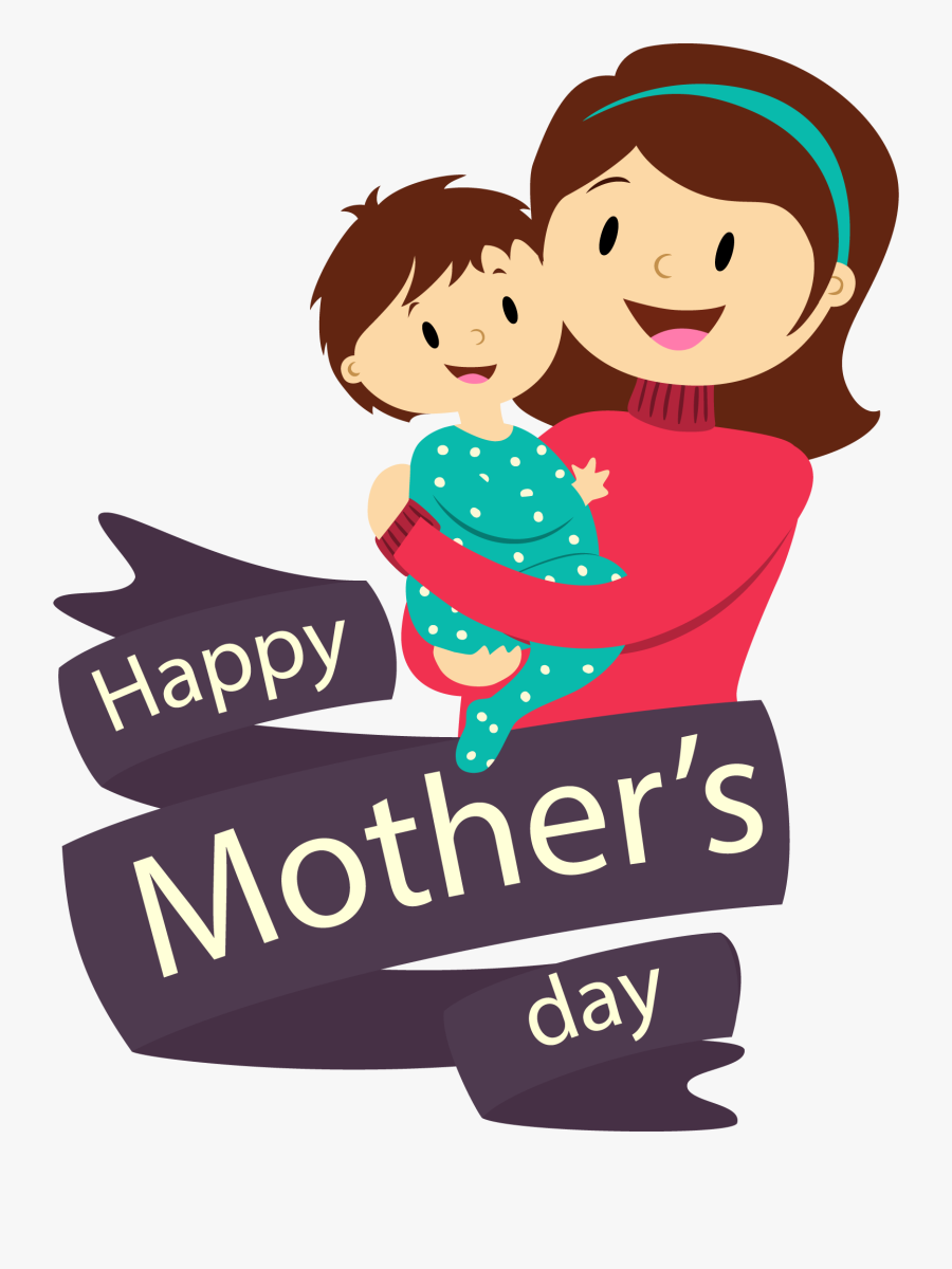 Mothers Day Vector Png, Transparent Clipart