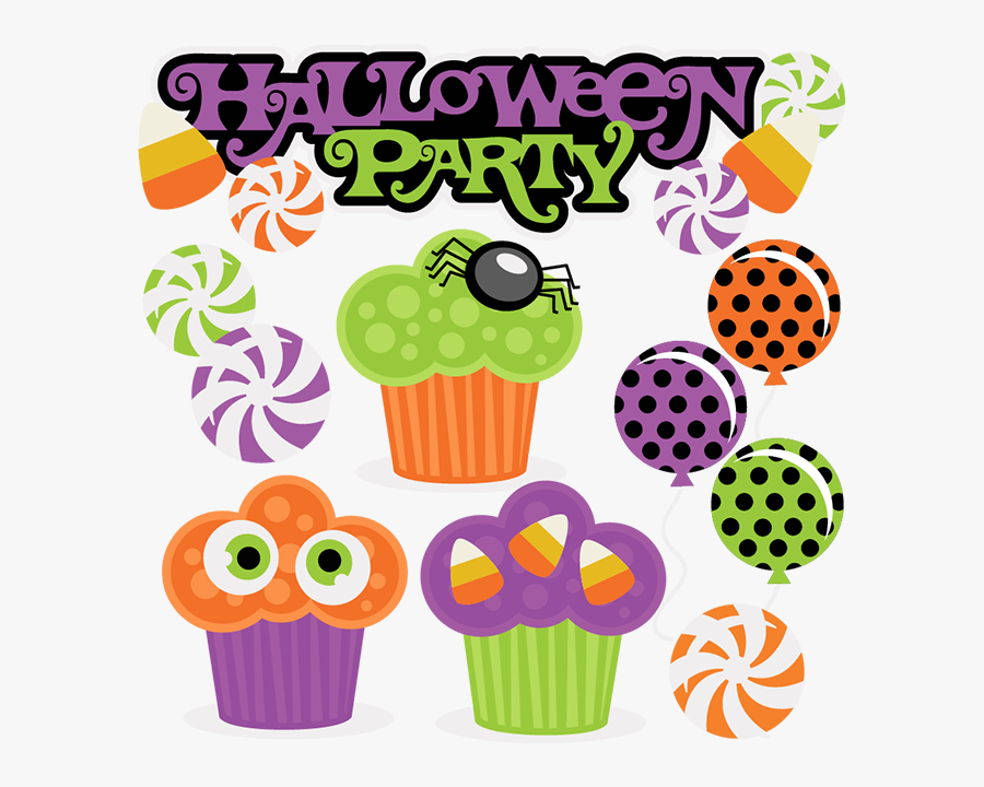 28 Collection Of Free Halloween Party Clipart - Miss Kate Cuttables Halloween, Transparent Clipart