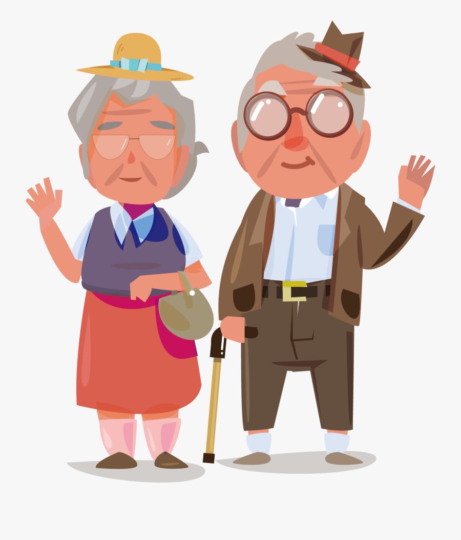 Transparent Old Couple Clipart - Old Age Images Free, Transparent Clipart
