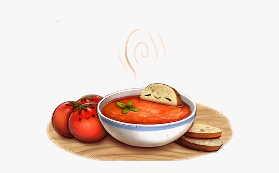 Soup Clipart Gazpacho - Tomato Soup Drawing, Transparent Clipart