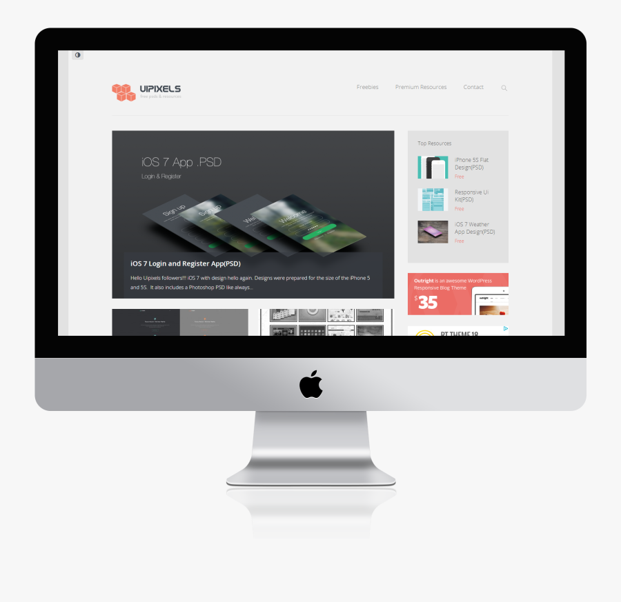 Apple Mockup Pro Imac Air Large Mac Clipart - Macbook Mockup Free Png, Transparent Clipart