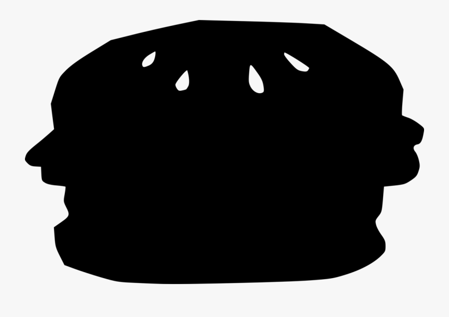 Head,silhouette,face - Hamburger, Transparent Clipart