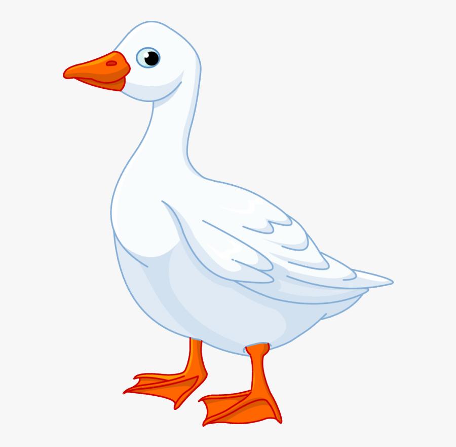 Goose Clipart Nursery Rhyme - Duck Farm Animals Clipart, Transparent Clipart