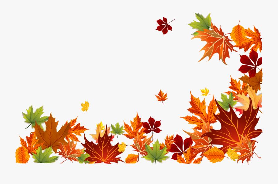 Autumn Leaf Color Autumn Leaf Color Euclidean Vector - Fall Leaves Border Png, Transparent Clipart