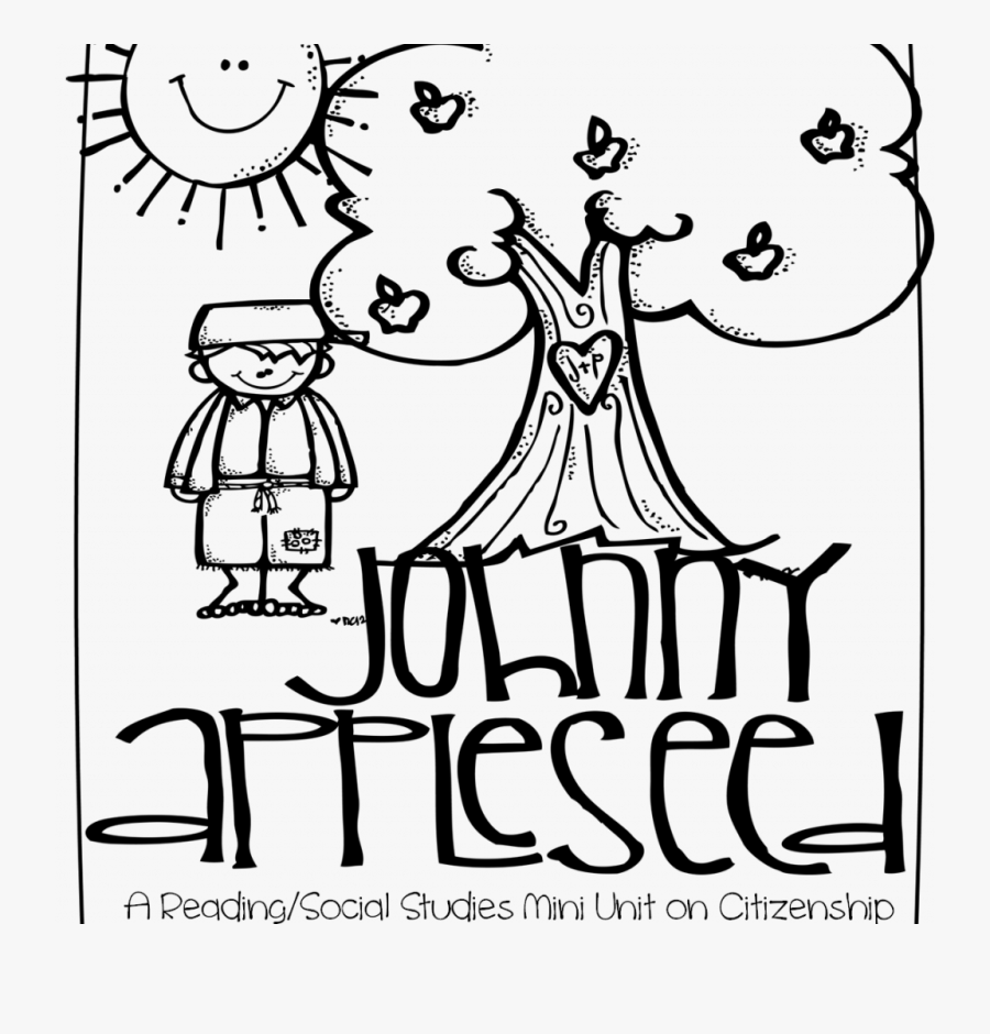 Free Thanksgiving Johnny Appleseed Coloring Pages - Printable Johnny Appleseed Coloring Page, Transparent Clipart