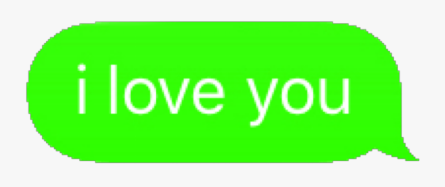 #iloveyou #ily #love #you #iphone #text #message #imessage - Onedrive, Transparent Clipart