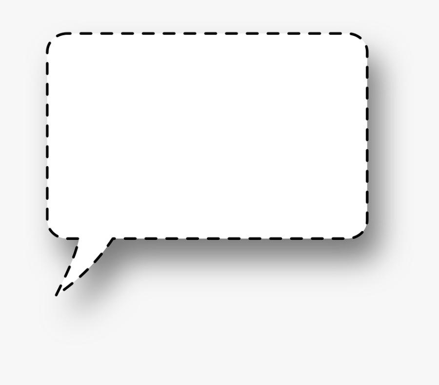 Large Speech Bubble Transparent - Transparent Background Square Speech Bubble Png, Transparent Clipart