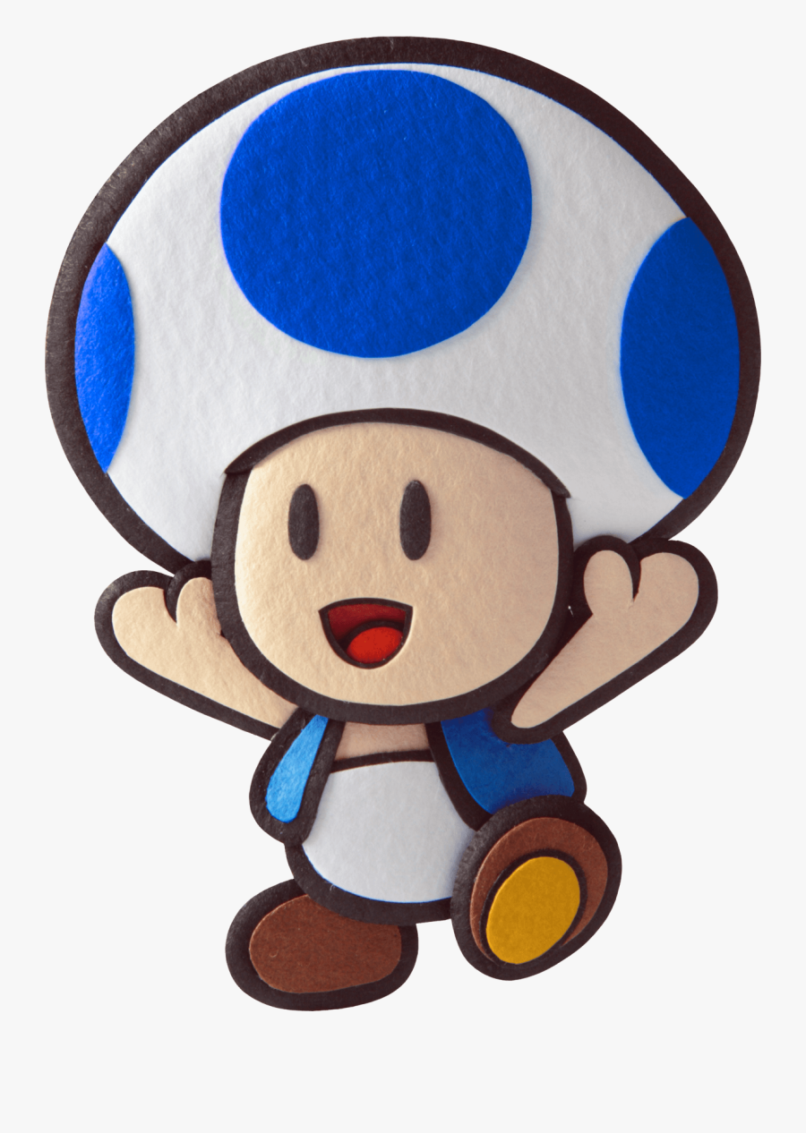 Blue Toad Paper Mario, Transparent Clipart